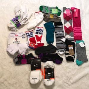 29 pairs new socks Nike K Swiss puma pony gold toe